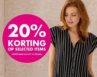 20% korting op geselecteerde items