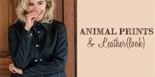 Animal prints & Leather (look)