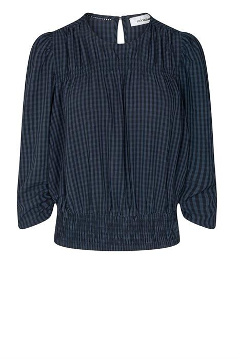 Co Couture Blouse Ange check blou