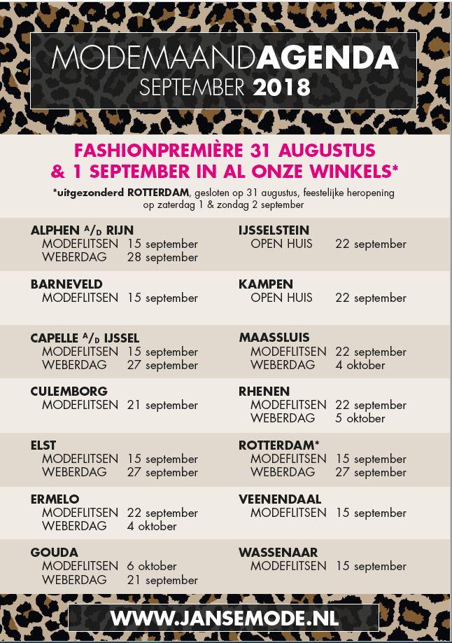 Modemaand september agenda