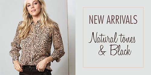 New arrivals | Natural tones & Black