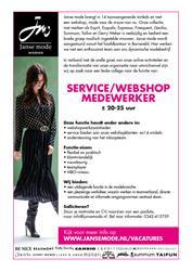 Service/Webshopmedewerker